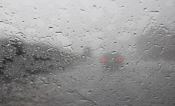 Driving on the 101 North towards Santa Barbara, the rain began to pelt us so furiously that the windshield wipers couldn't keep up and I couldn't see a thing. Luckily for us this only lasted 30 seconds or so.
