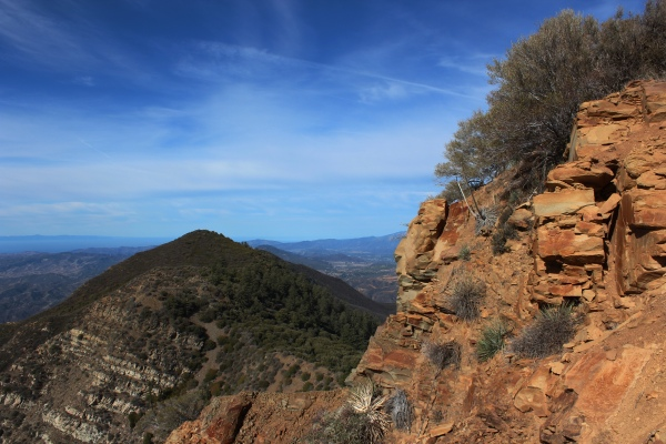Ojai is to the right of the unnamed peak in the foreground.