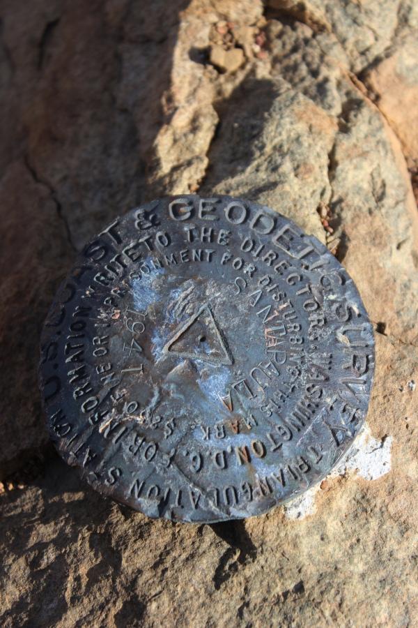 Santa Paula Peak, 1941 summit marker